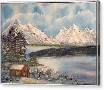 Solitude At The Lake Canvas Print by Joyce Krenson