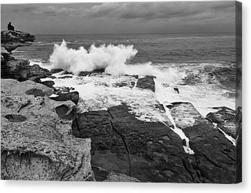 Canvas Print featuring the photograph Solitude - Black And White by Photography  By Sai