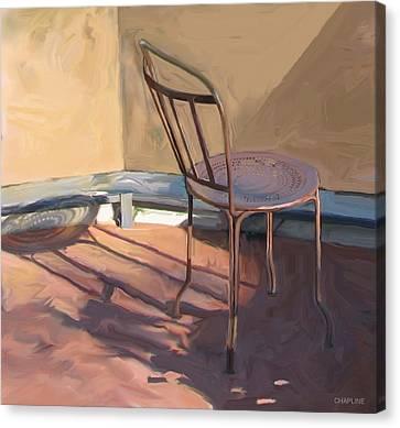 Interior Still Life Canvas Print - Solitude by Curtis Chapline