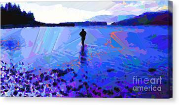 Solitude In Blue Canvas Print by Dorinda K Skains