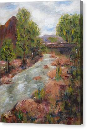 Southern Utah Canvas Print - Solitude by Kathy Stiber
