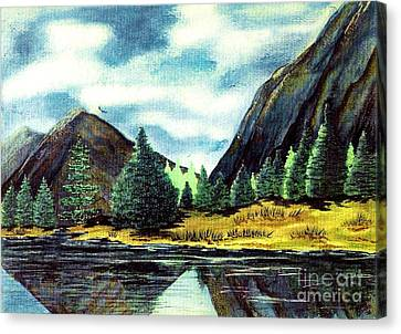 Canvas Print featuring the painting Solitude by Patricia Griffin Brett