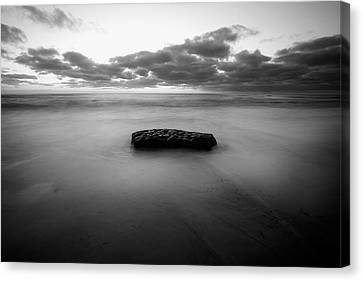La Jolla Art Canvas Print - Solitude Rock by Peter Tellone