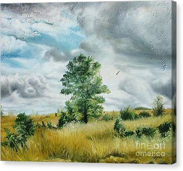 Canvas Print featuring the painting Solitude by Sorin Apostolescu