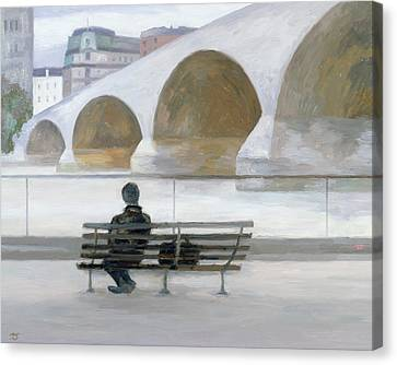 Sombre Canvas Print - Solitude by Terry Scales