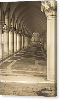 Solitude Under Palace Arches Canvas Print