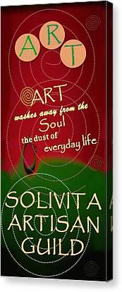 Artisan Canvas Print - Solivita Artisan Guild Logo by Matthew Hoffman