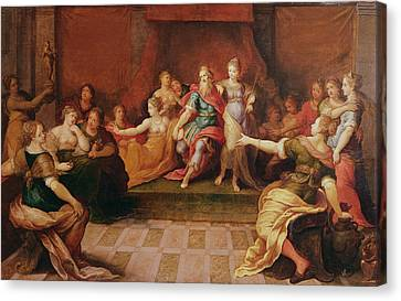 Solomon And His Women  Canvas Print by Frans II the Younger Francken