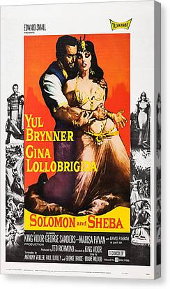 1950s Poster Art Canvas Print - Solomon And Sheba, Us Poster, Yul by Everett