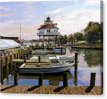 Solomon's Island Canvas Print by Guido Borelli