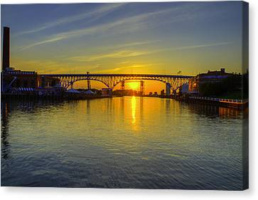 Solstice On The Cuyahoga River Canvas Print
