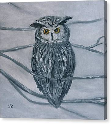 Solstice Owl Canvas Print by Victoria Lakes