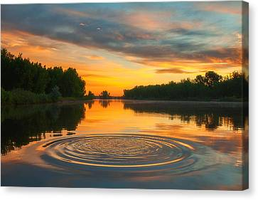 Solstice Ripples Canvas Print by Darren  White