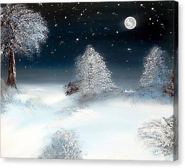 Solstice Snowfall I Canvas Print by Alys Caviness-Gober