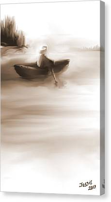 Some Alone Time Canvas Print by Jessica Wright
