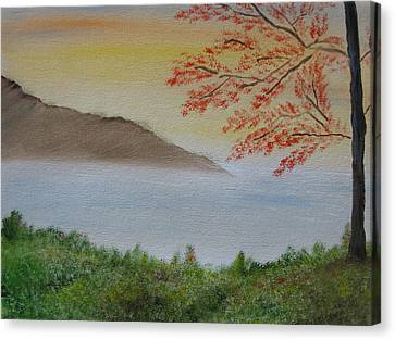 Bob Ross Canvas Print - Some Alone Time by Sayali Mahajan
