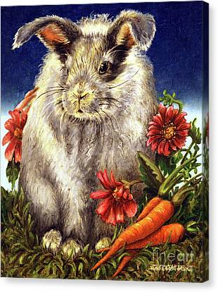Some Bunny Is A Fuzzy Wuzzy Canvas Print by Linda Simon