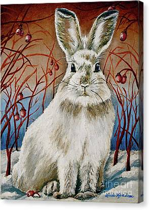 Some Bunny Is Charming Canvas Print by Linda Simon