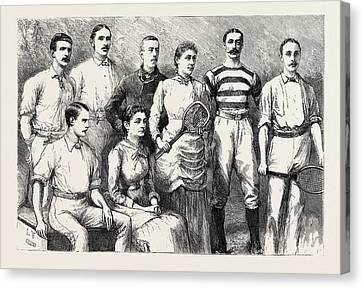 Some English Lawn Tennis Players, Engraving 1884, Uk Canvas Print
