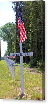Canvas Print featuring the photograph Some Gave All by Gordon Elwell