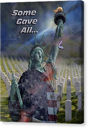 Some Gave All... Canvas Print by Jayne Gohr