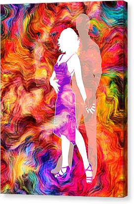 Some Like It Hot 2 Canvas Print by Angelina Vick
