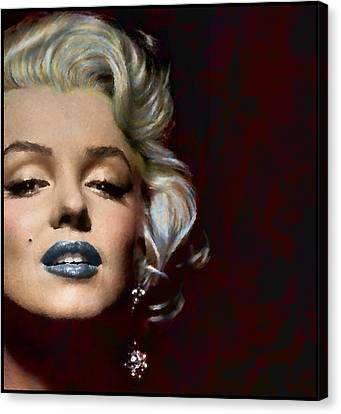 Marilyn Monroe Actress Legend Icon Hollywood Sex Symbol Movie Star Digital Canvas Print - Some Like It Hot by Marie  Gale