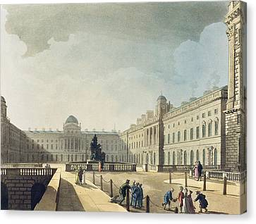 Somerset House, Strand, From Ackermanns Canvas Print by T. & Pugin, A.C. Rowlandson