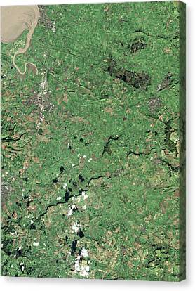 Somerset Levels Canvas Print by Nasa