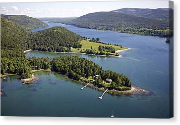 Somesville, Mount Desert Island Canvas Print by Dave Cleaveland
