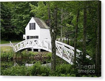 Somesville Postcard Idyll Canvas Print by Christiane Schulze Art And Photography