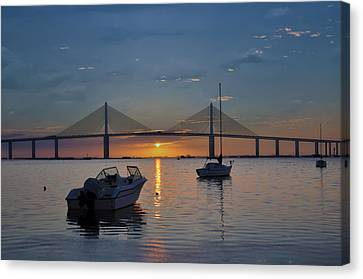 Something About A Sunrise Canvas Print by Bill Cannon
