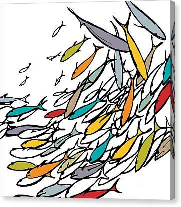 Something Fishy Canvas Print by Sarah Hough
