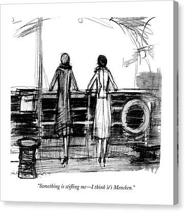 Concern Canvas Print - Something Is Sti?ing Me - I Think It's Mencken by  Krakusin