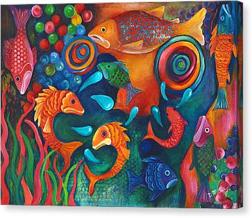 Something's Fishy Canvas Print by Debbie McCulley