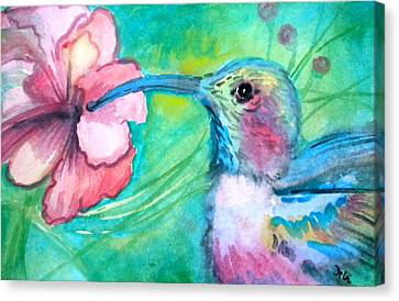 Something's Humming Canvas Print by Debi Starr