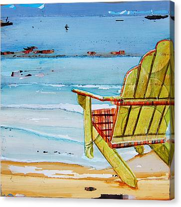 Beach Chair Canvas Print - Sometimes It's Good To Be Shallow by Danny Phillips