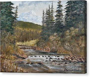 Somewhere Above South Fork Canvas Print by Dana Carroll