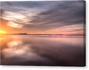 Somewhere Between That Setting Sun Canvas Print