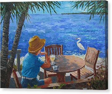 Canvas Print featuring the painting Somewhere Else by Tony Caviston