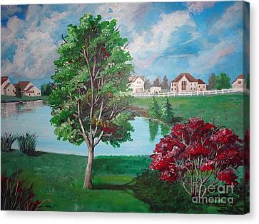 somewhere in Hilliard Canvas Print by Soumya Bouchachi