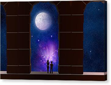 Somewhere In Time And Space Canvas Print by Carol and Mike Werner