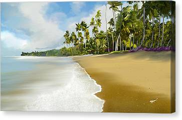 Canvas Print featuring the digital art Somewhere Near Forever by Anthony Fishburne