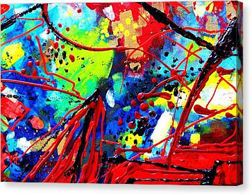 Abstract Expressionism Canvas Print - Somewhere Over The Rainbow  II    Cropped Version  by John  Nolan