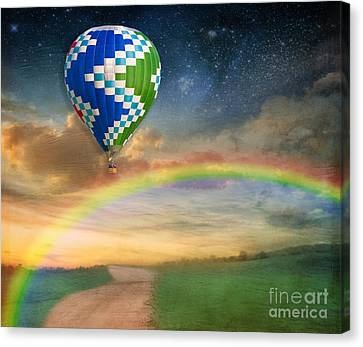 Somewhere Over The Rainbow Canvas Print by Juli Scalzi