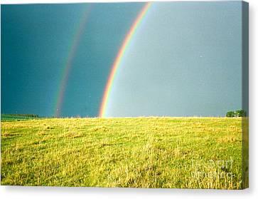 Somewhere Over The Rainbow Canvas Print by Virginia Ann Hemingson