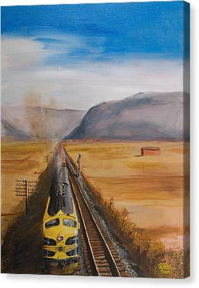Somewhere West Of Corning Canvas Print by Christopher Jenkins