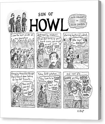 Son Of Howl Canvas Print by Roz Chast