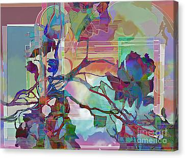 Canvas Print featuring the digital art Sonata by Ursula Freer