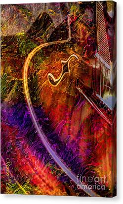 Song And Dance Digital Guitar Art By Steven Langston Canvas Print by Steven Lebron Langston